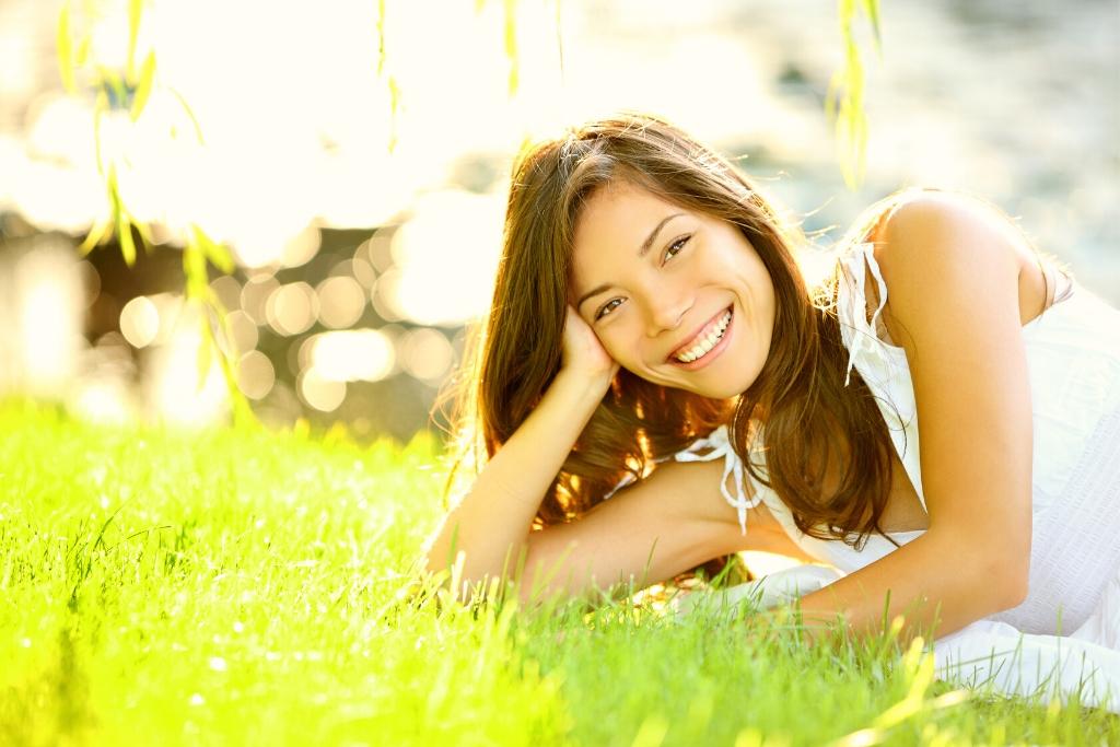 Happy Woman In A Park | Skinn Bar